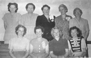 Grouse Creek Primary Presidency - 1947 BackRow - Martha Kimber, Louie Roberts, Amanda Paskett, Nola Kimber FrontRow - Lonra Hadfield Tanner, Effie K. Ballingham, Raida Betteridge Kimber, Eula Kimber, Delma Kimber Smith