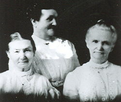 Mary Morgan Pingree, Amanda Morgan Barlow Tanner and Olive Morgan Hodge